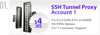 $4.95 - Secure proxy available on ports 21,22,23,80,443 with 24/7 customer support.